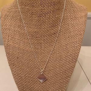 Jewelry - Sterling Silver square necklace